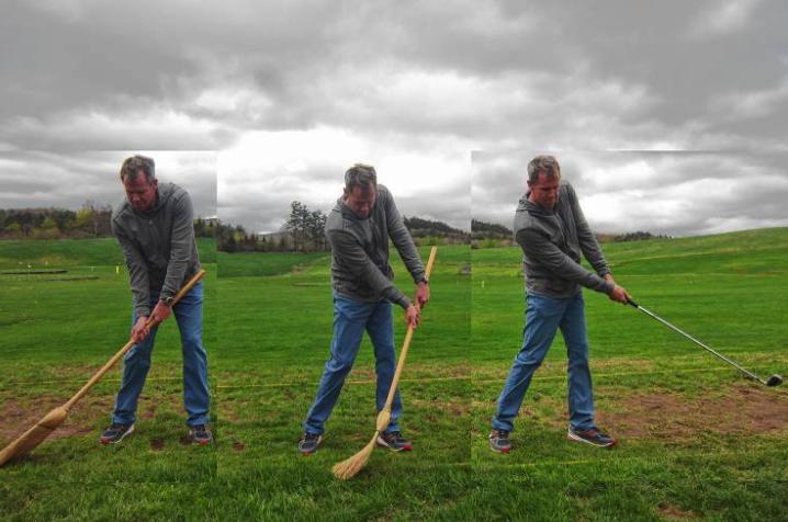 Amen Corner: A Sweep Way to Practice Swing